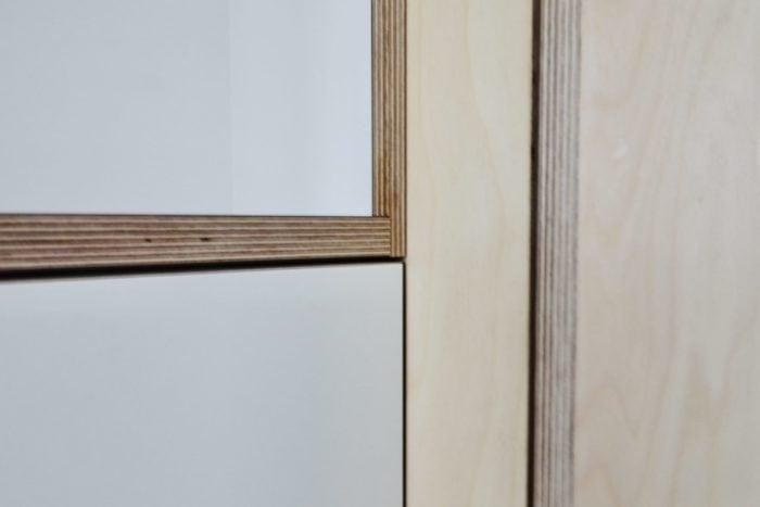 Het lange vierkant interieur